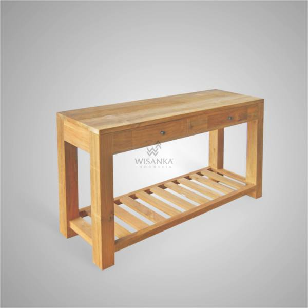 HAIRA CONSOLE TABLE WITH SHELVE