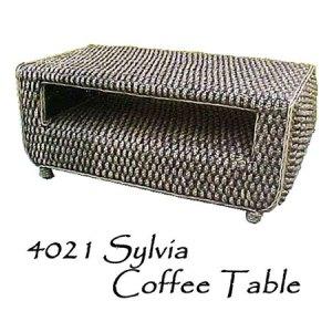 Sylvia Wicker Coffee Table