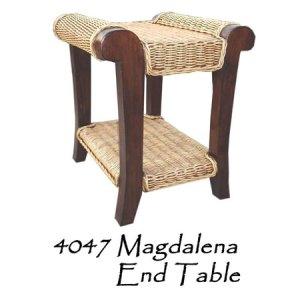 Magdalena Rattan End Table