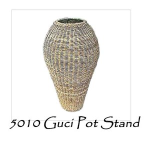Guci Rattan Pot Stand