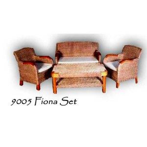 Fiona Rattan Living Set
