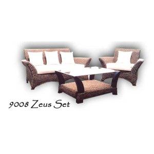 Zeus Wicker Living Set