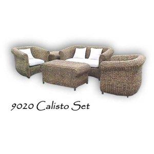 Calisto Wicker Living Set