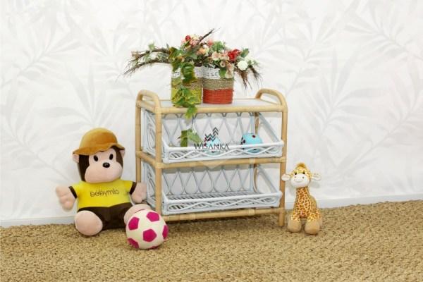 Kia Rattan Kids Shelf