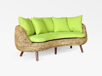 Kervin Rattan Curve Sofa