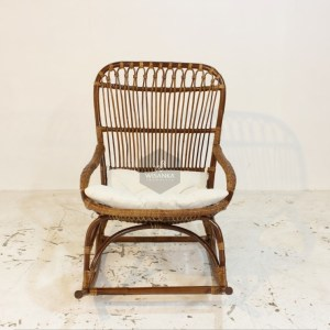 Monet Rattan Rocking Chair Front