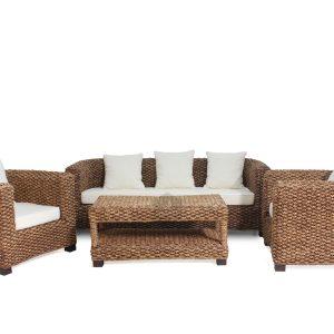 Khatulistiwa Wicker Rattan Sofa Set