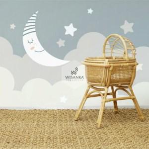 Sunrise Rattan Doll Crib