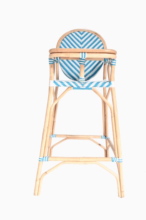 Blue Rattan Baby Feeding Chair