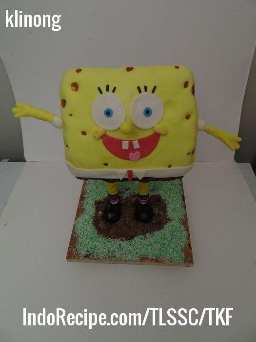 3-D Spongebob Cake