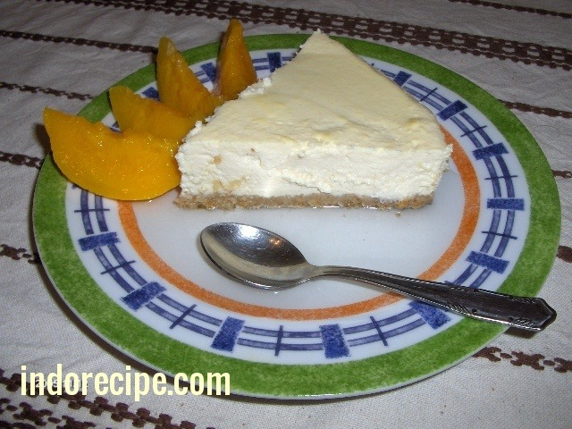 Thin Crust Lactovegetarian Cheesecake