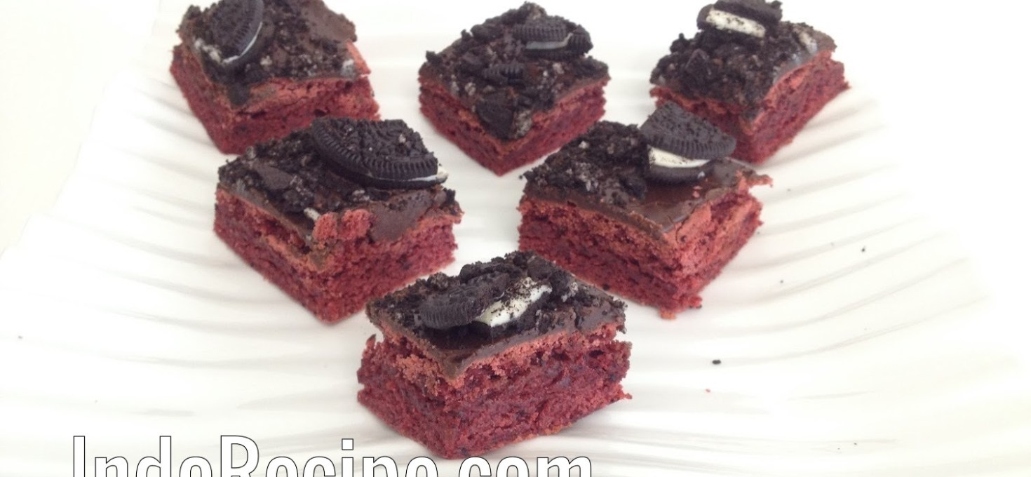 Red Velvet Truffle Brownies