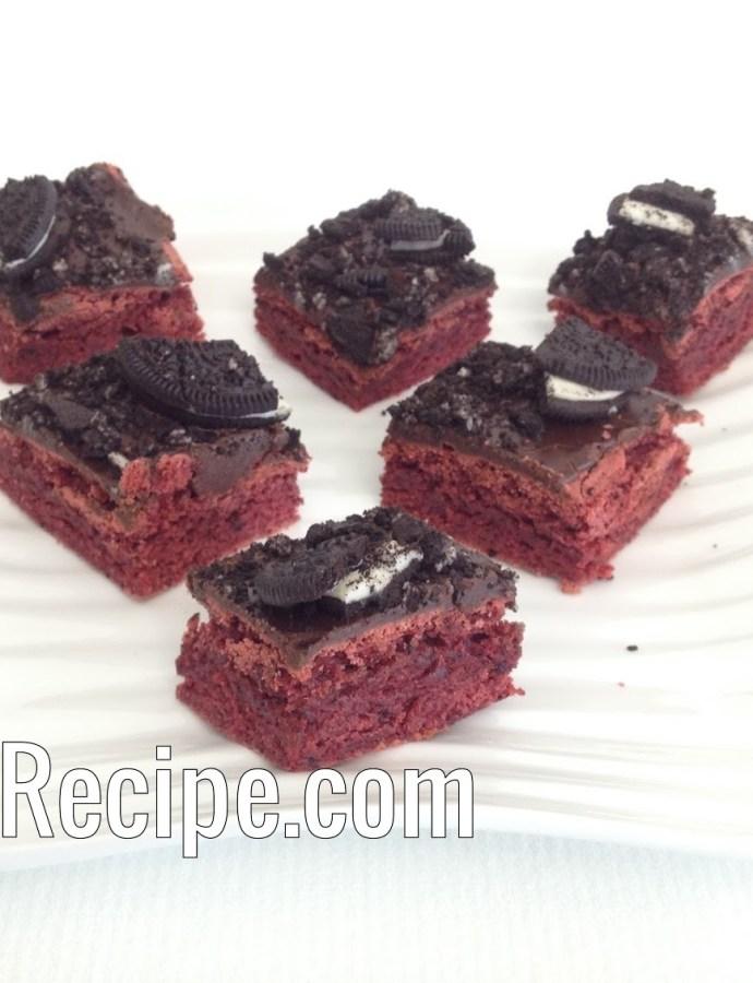 Red Velvet Truffle Brownies