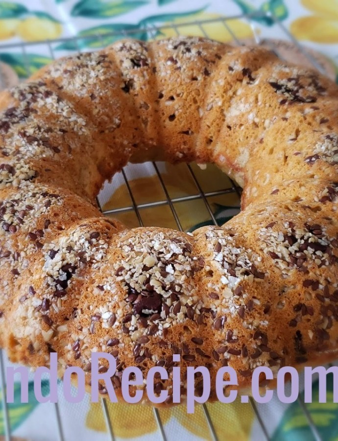 Oat Fiber Banana Ring Bread