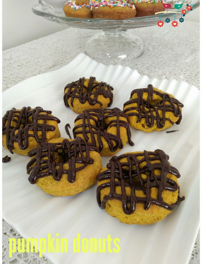 Oven Baked Pumpkin Donuts