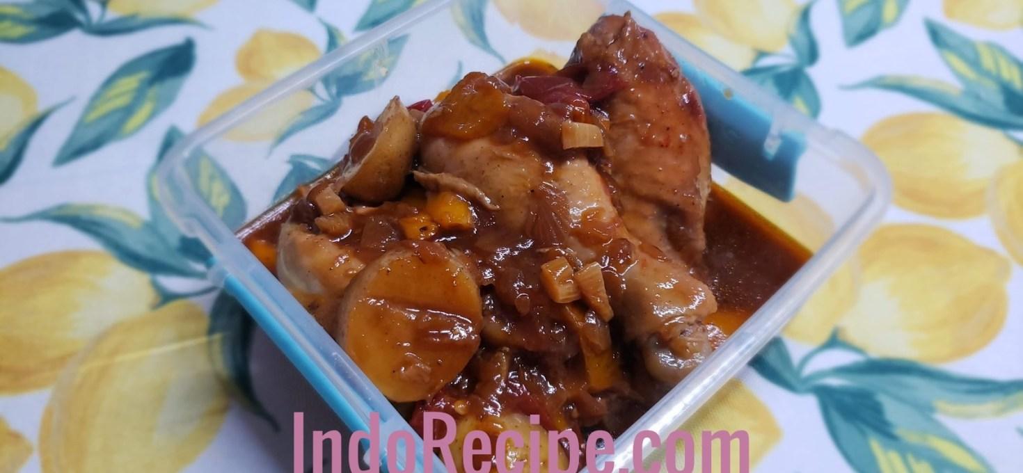 Chicken In BBQ Sauce Gravy
