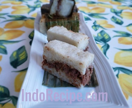 Beef Curry Filled Rice Cake (Lemper Rendang)
