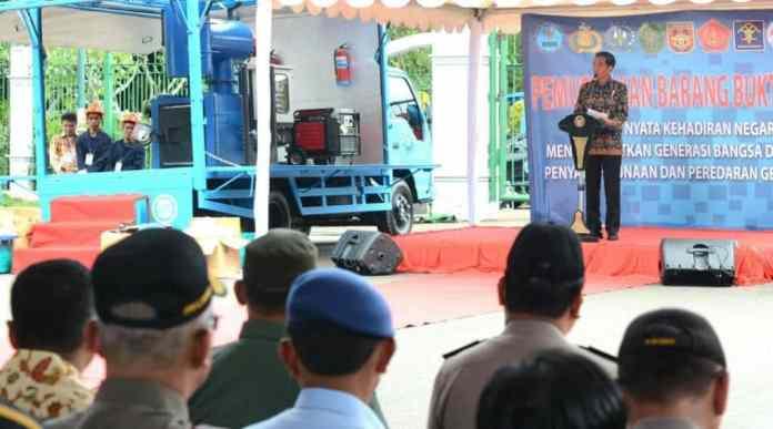 15 Ribu Korban Narkoba Mati Tiap Tahunnya, Presiden Jokowi: Berapa Pengedar dan Bandar yang Meninggal?