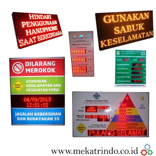 Running Text - Digital Information Board -Lampu LED - Mekatrindo