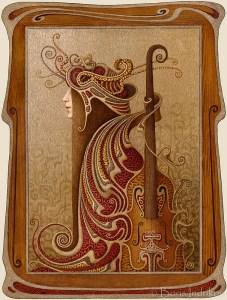 скрипка рама violina frame