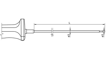 NiCr-Ni Sensor with Handle FTA122LxxxxH