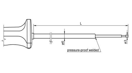 NiCr-Ni Sensor with Handle FTA150L