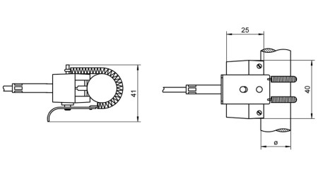 NiCr-Ni Pipe Clamp Sensor FTA8068