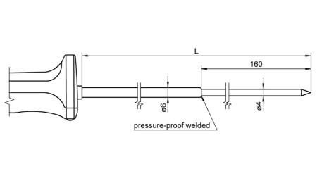 NiCr-Ni Sensor with Handle FTA1231L0250H