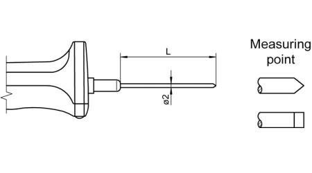 NiCr-Ni Sensor with Handle FTA123L0xx0H