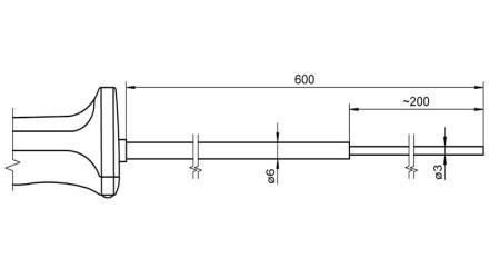 NiCr-Ni Sensor with Handle FTA126L0600H