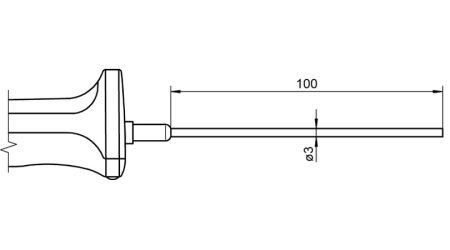 NTC Sensor with Handle FNA106L0100H