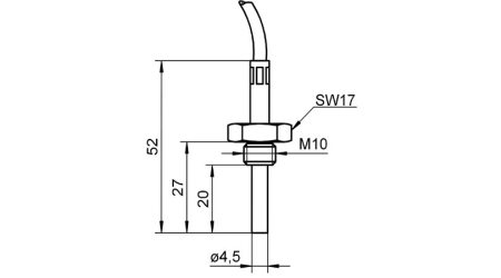 Screw-Fit Sensor With Fitted Cable