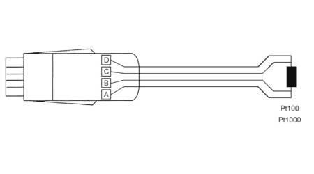 ZPD700FS Pt100/Pt1000 Temperature Sensor Digital ALMEMO® D7 Measuring Connector
