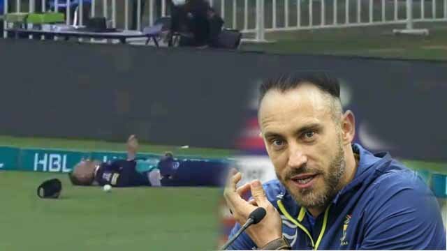 PSL 2021: Faf du Plessis shifted to hospital for tests after on-field collision with Mohammad Hasnain in Abu Dhabi