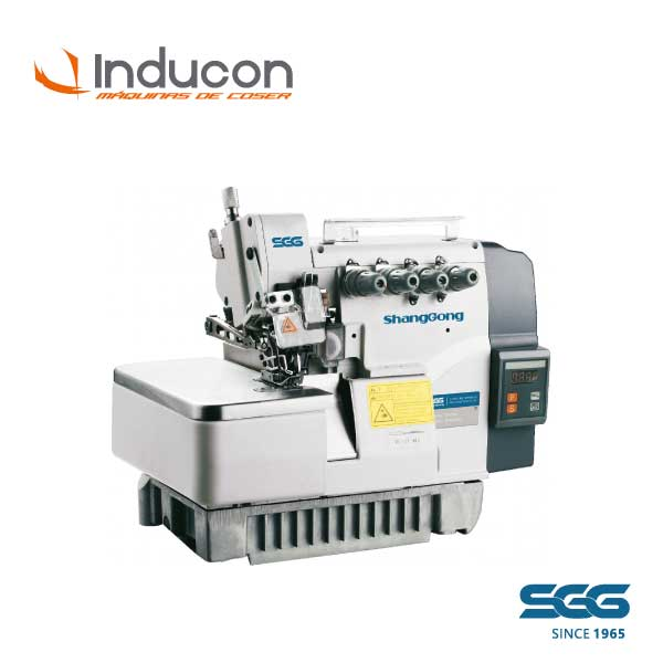 Foto de una maquina industrial overlock de 5 hilos ShangGong modelo GN7720E-516H