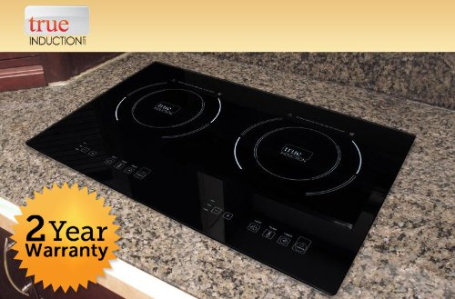 True Induction S2F3 Counter Inset Double Burner Induction Cooktop, 120V, Black