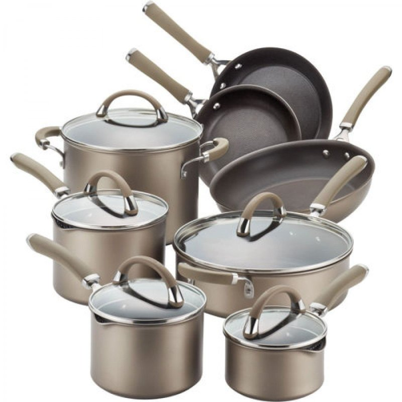 circulon-premier-professional-13-piece-hard-anodized-cookware-set-chocolate-stainless-steel-base