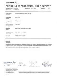 Poročilo o preskusu Ursa podjetje za elektroniko Približevalna stikala 2