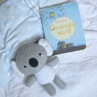 koala stuffed animal with good night world book