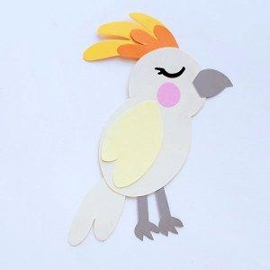 Kid's Cockatoo Paper Craft