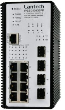 Switch industrial PoE gestionado