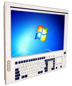 Panel PC con teclado de membrana