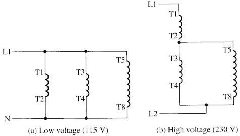 changing voltage  speeds of singlephase motors