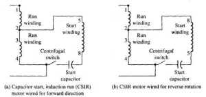 Electrical Diagram for a CSIR Motor