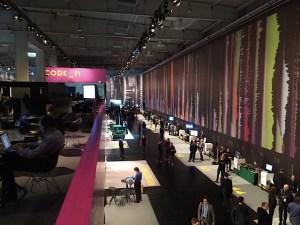 Auf der Cebit in Hannover: Start-ups auf dem Code-N-Stand. Foto: Carsten Knop