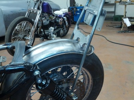 Sissy Bar and owner supplied fender