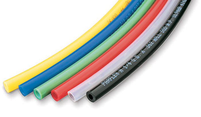 Semi-rigid metric nylon tubing
