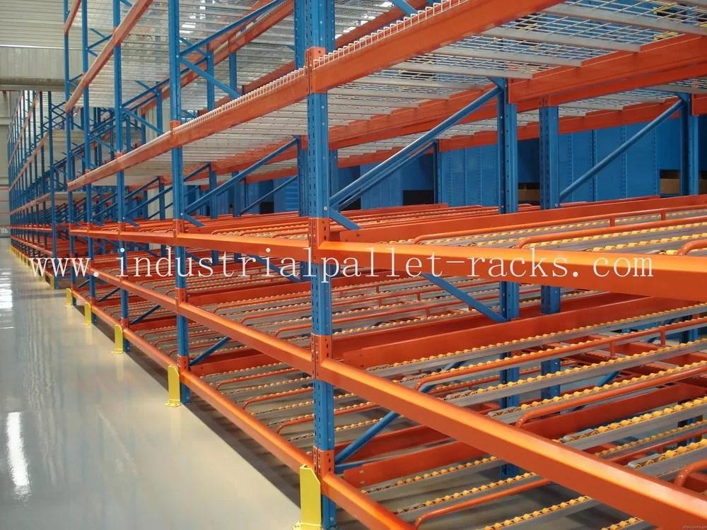 steel mesh shelving carton flow rack systems
