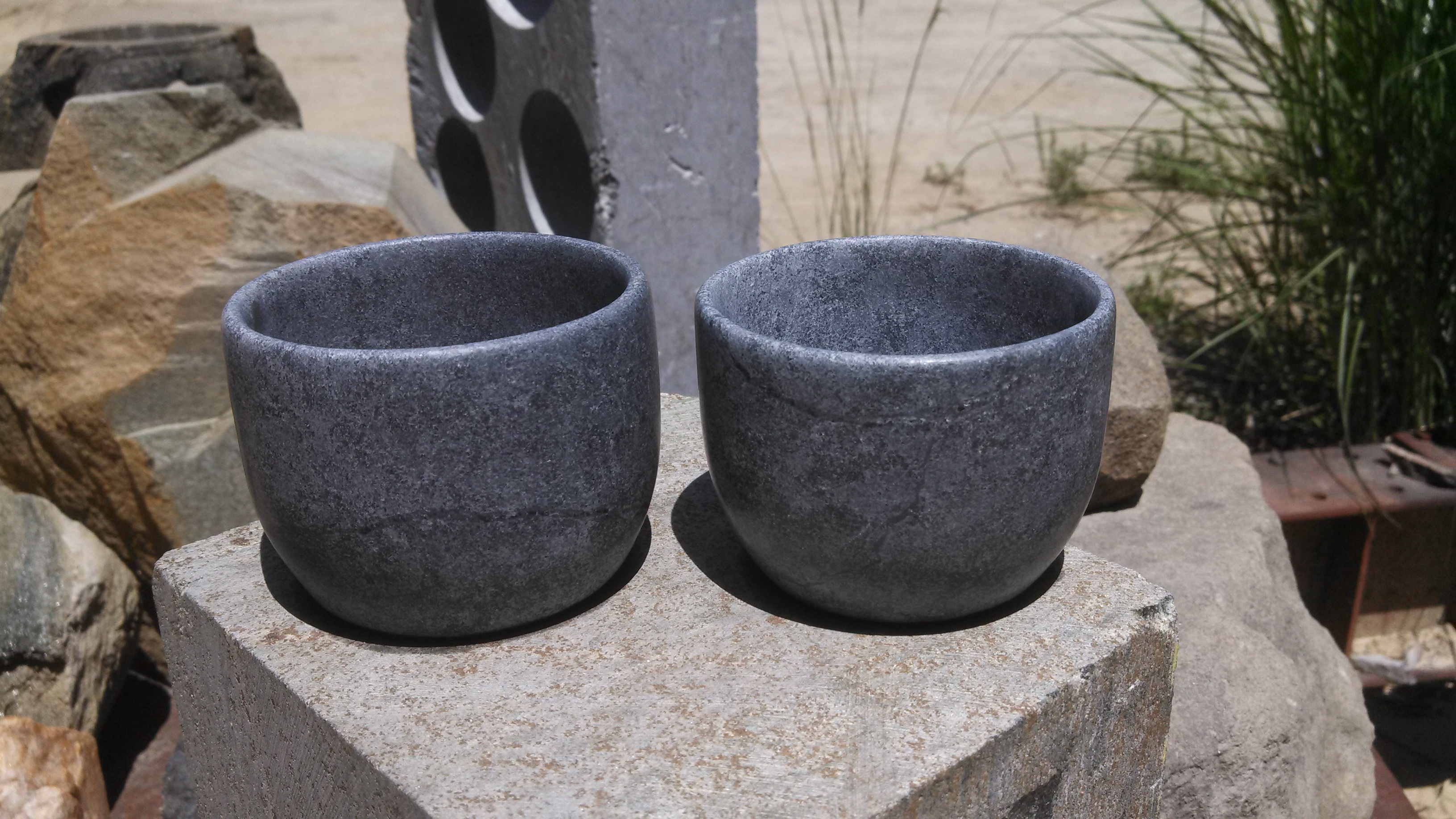Large Soapstone Jefferson Cups