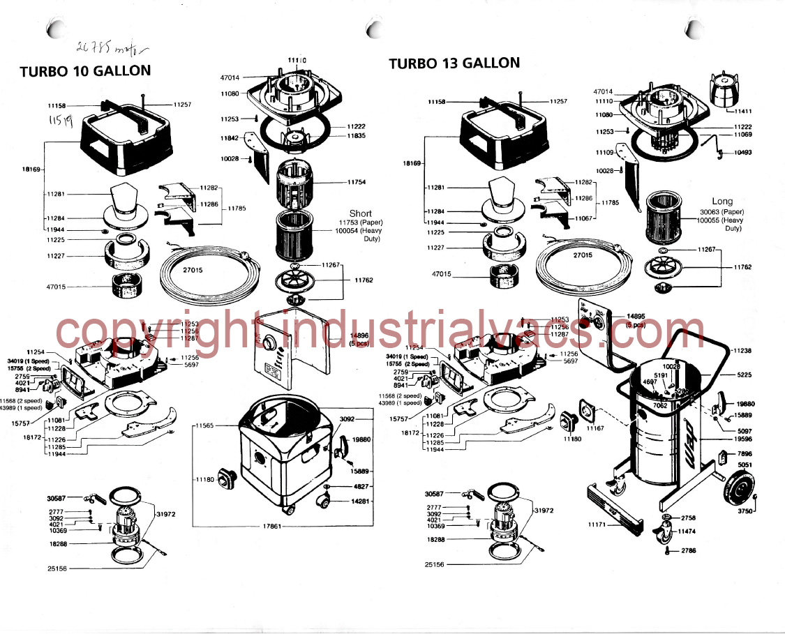 Turbo Vacuum Parts Amp Accessories Diagram